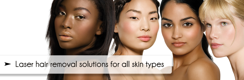 Stockton laser skin treatments for hair removal - image of beautiful ethnic women