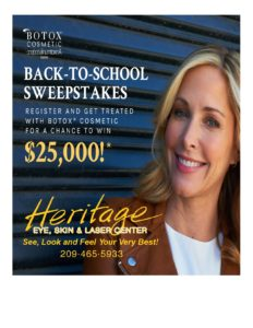 EXCITING NEWS!  Allergan is launching the BOTOX® Cosmetic Back-To-School Sweepstakes!