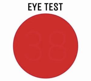 Red Circle Eye Test
