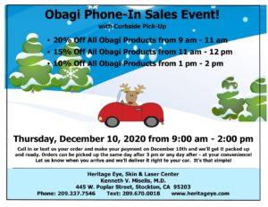 December 2020 Obagi Phone In Sale Event